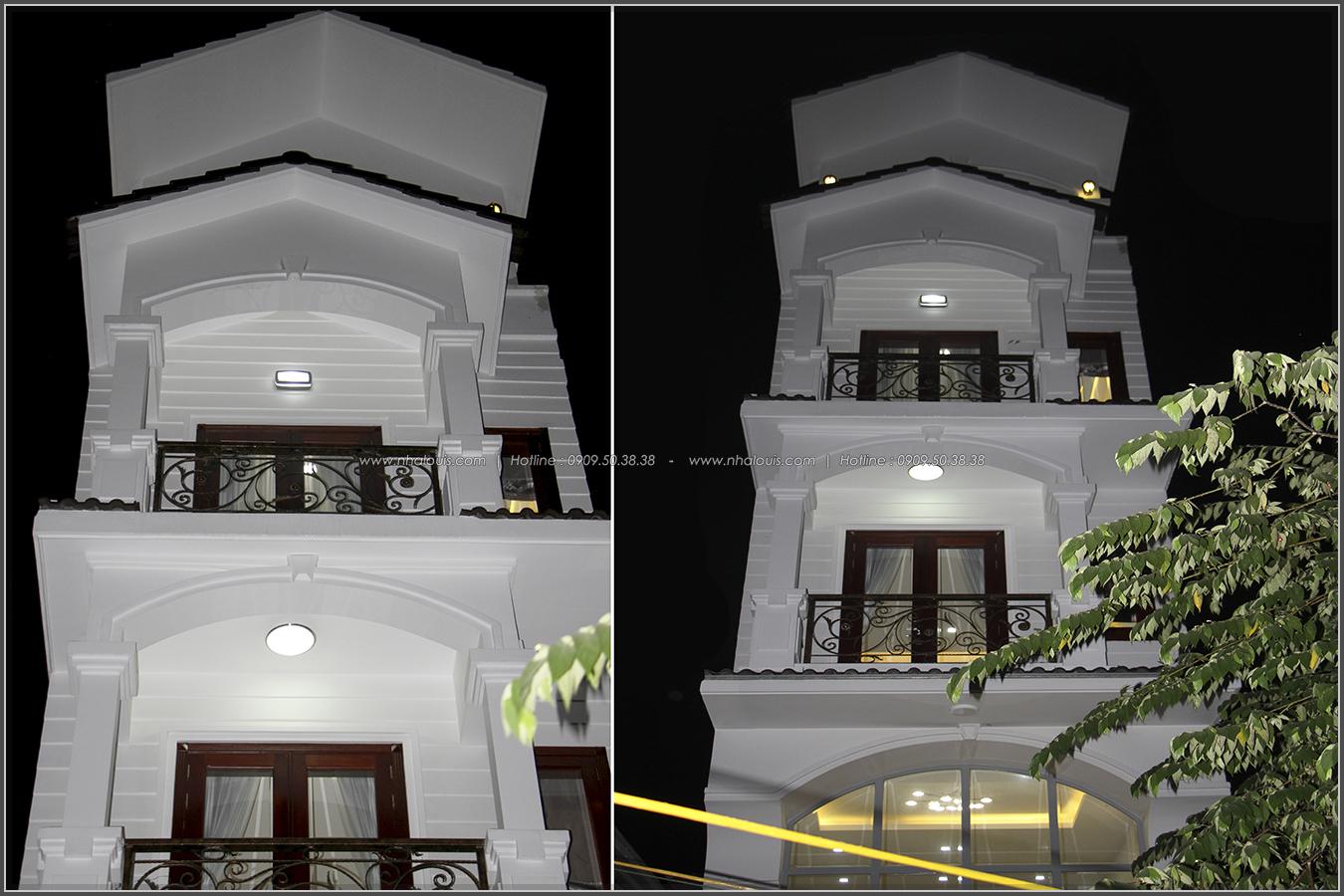 Thi công xây dựng nhà phố mặt tiền 5m tân cổ điện của anh Lợi quận Tân Phú