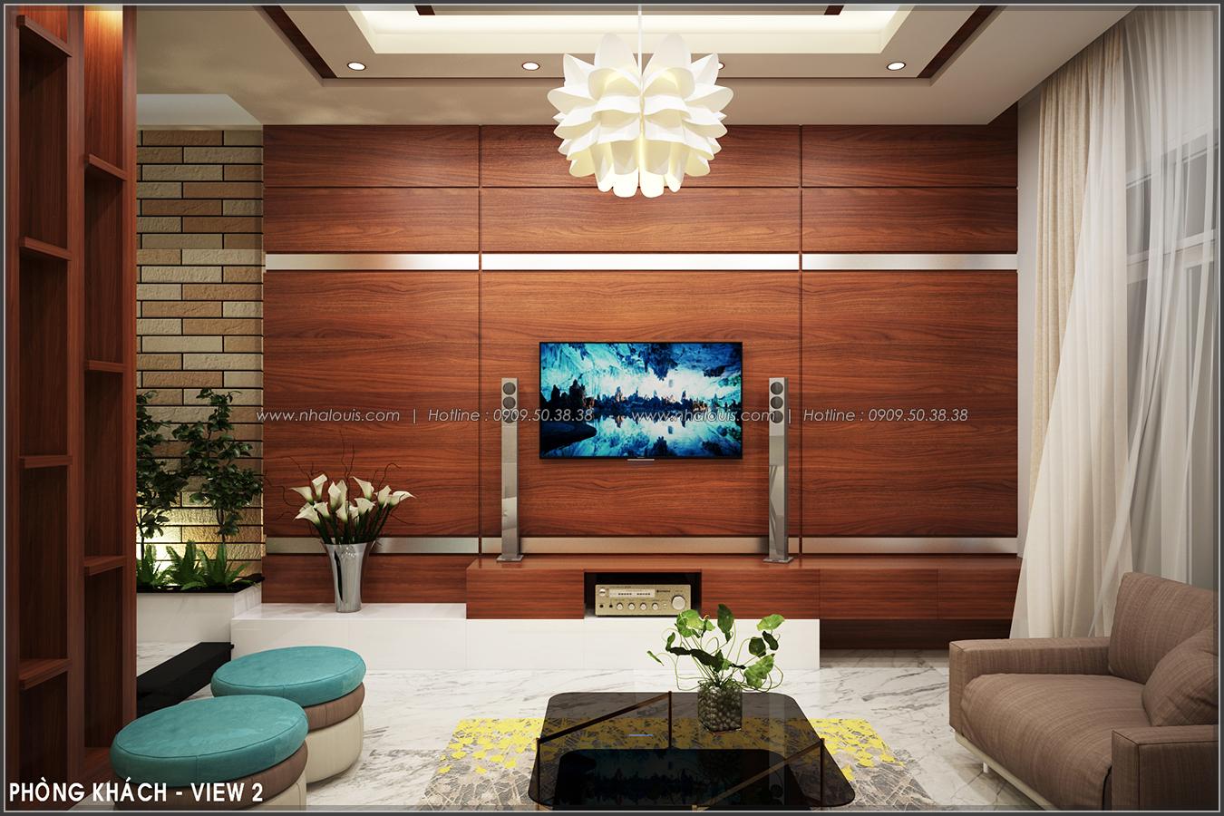 Thiết kế nhà phố nội thất tone gỗ ở quận Tân Bình đẹp sang trọng và ấm áp
