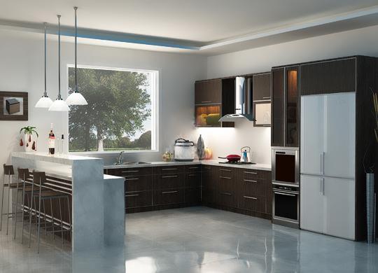 Thiết kế phòng bếp kết hợp quầy bar mini tiện lợi và độc đáo - 02