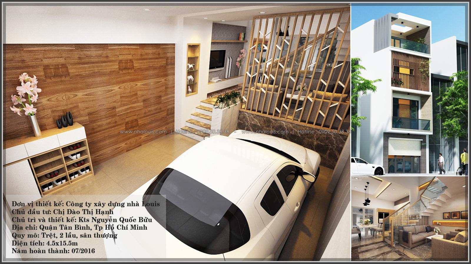 Thiết kế nhà lệch tầng hiện đại mặt tiền 4.5m x 14.5m tại quận Tân Bình - 01