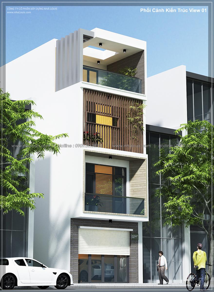 Thiết kế nhà lệch tầng hiện đại mặt tiền 4.5m x 14.5m tại quận Tân Bình - 02
