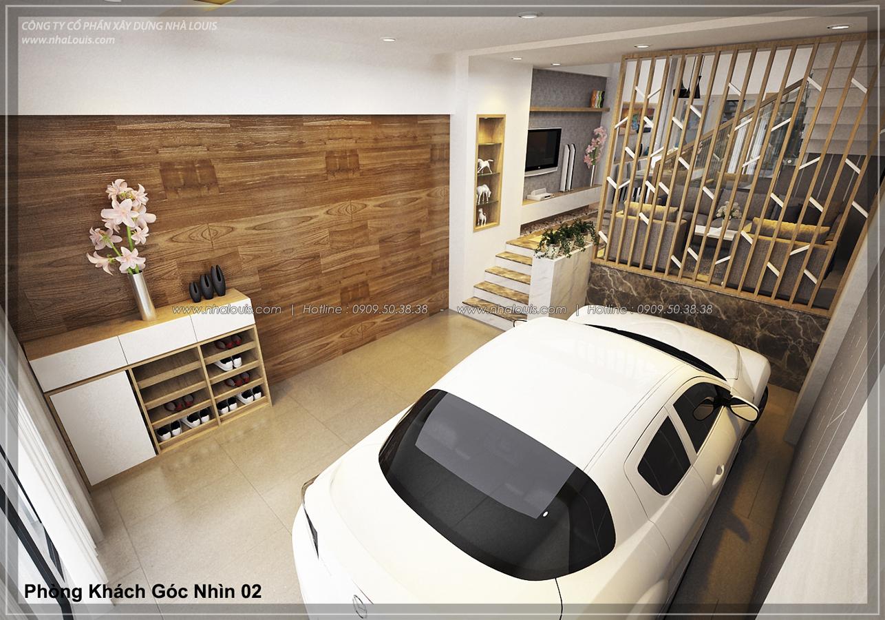 Thiết kế nhà lệch tầng hiện đại mặt tiền 4.5m x 14.5m tại quận Tân Bình - 04