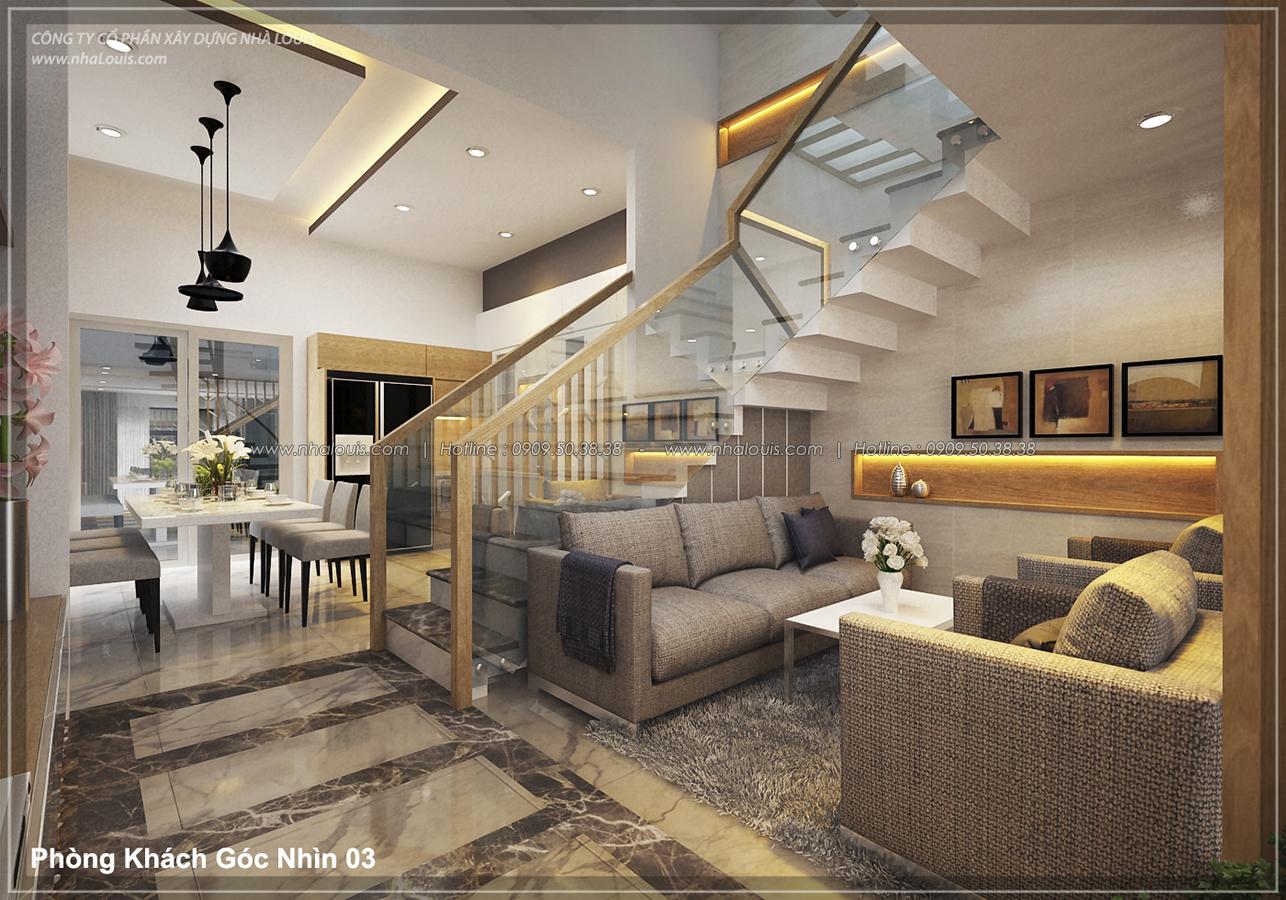 Thiết kế nhà lệch tầng hiện đại mặt tiền 4.5m x 14.5m tại quận Tân Bình - 05
