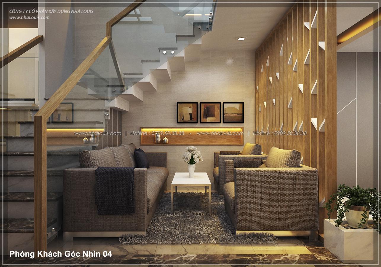 Thiết kế nhà lệch tầng hiện đại mặt tiền 4.5m x 14.5m tại quận Tân Bình - 06
