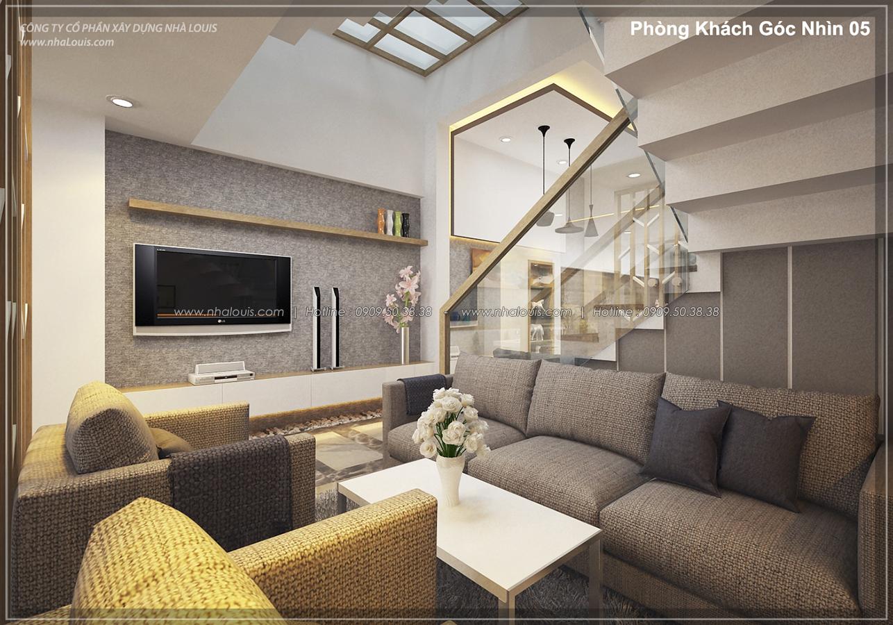 Thiết kế nhà lệch tầng hiện đại mặt tiền 4.5m x 14.5m tại quận Tân Bình - 07