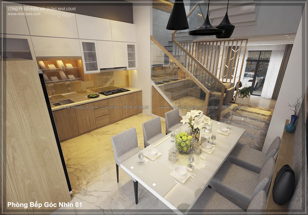 Thiết kế nhà lệch tầng hiện đại mặt tiền 4.5m x 14.5m tại quận Tân Bình - 08