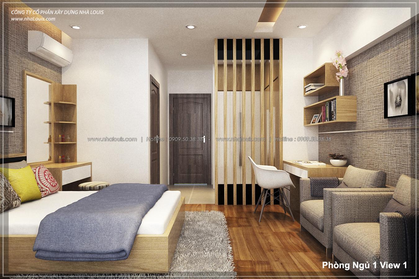 Thiết kế nhà lệch tầng hiện đại mặt tiền 4.5m x 14.5m tại quận Tân Bình - 12