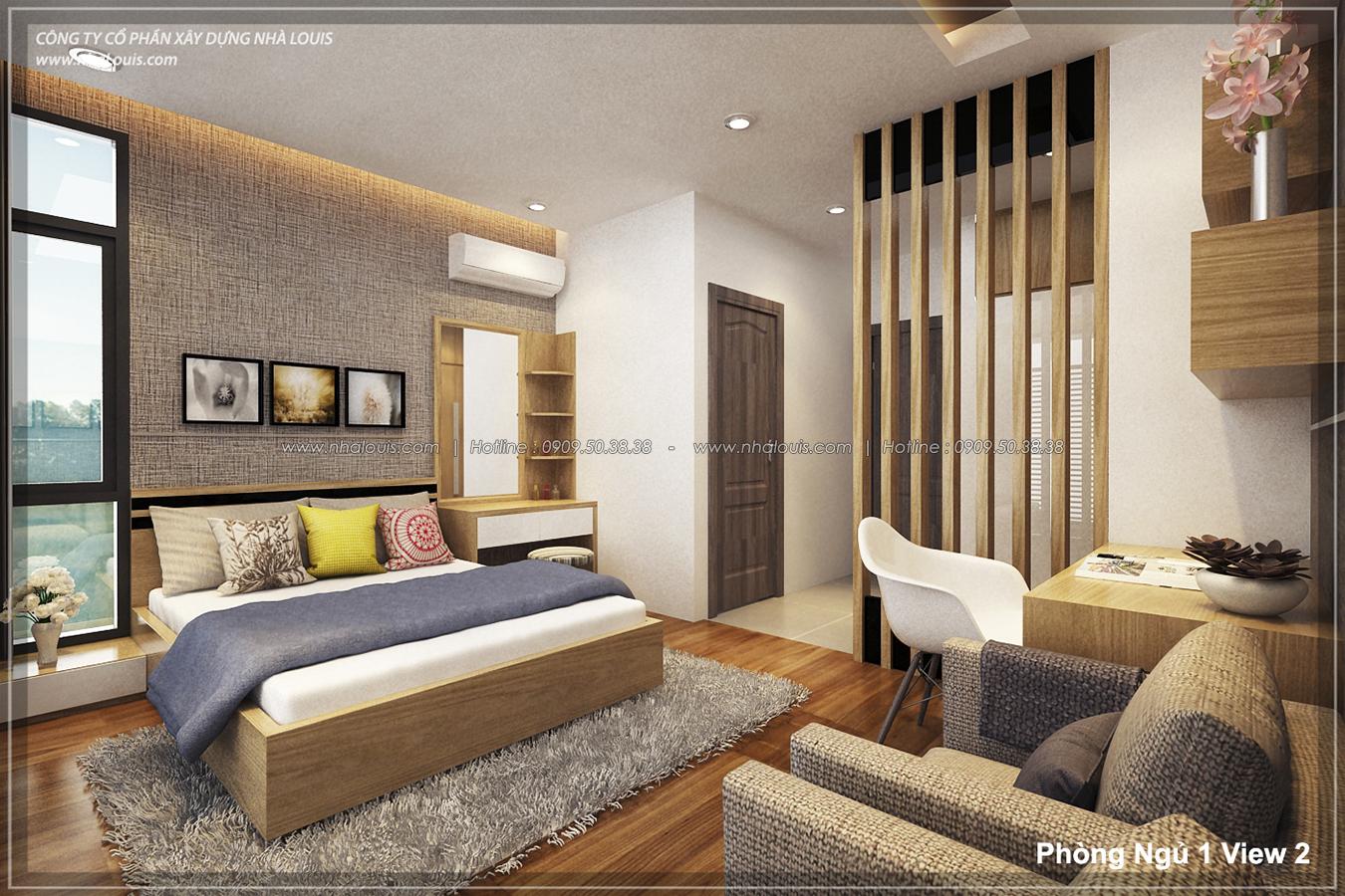 Thiết kế nhà lệch tầng hiện đại mặt tiền 4.5m x 14.5m tại quận Tân Bình - 13
