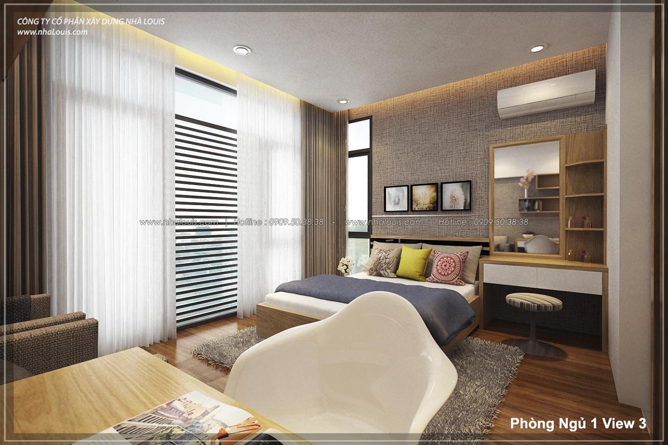 Thiết kế nhà lệch tầng hiện đại mặt tiền 4.5m x 14.5m tại quận Tân Bình - 14