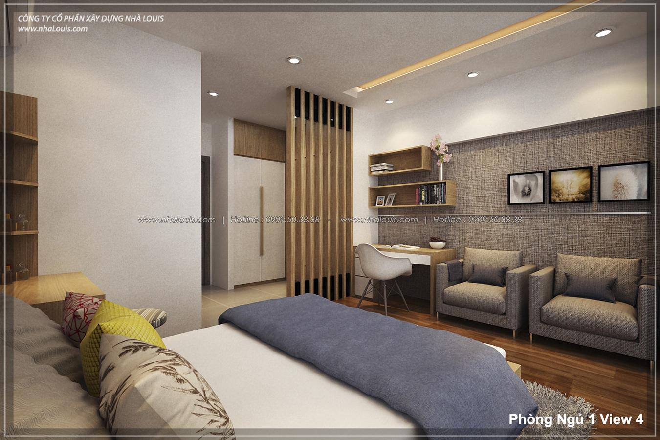 Thiết kế nhà lệch tầng hiện đại mặt tiền 4.5m x 14.5m tại quận Tân Bình - 15