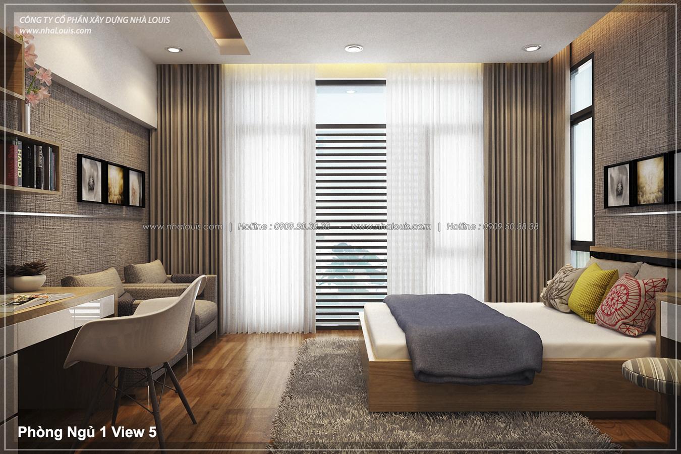 Thiết kế nhà lệch tầng hiện đại mặt tiền 4.5m x 14.5m tại quận Tân Bình - 16