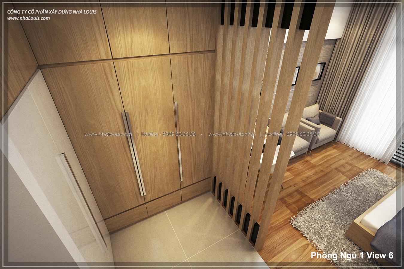 Thiết kế nhà lệch tầng hiện đại mặt tiền 4.5m x 14.5m tại quận Tân Bình - 17