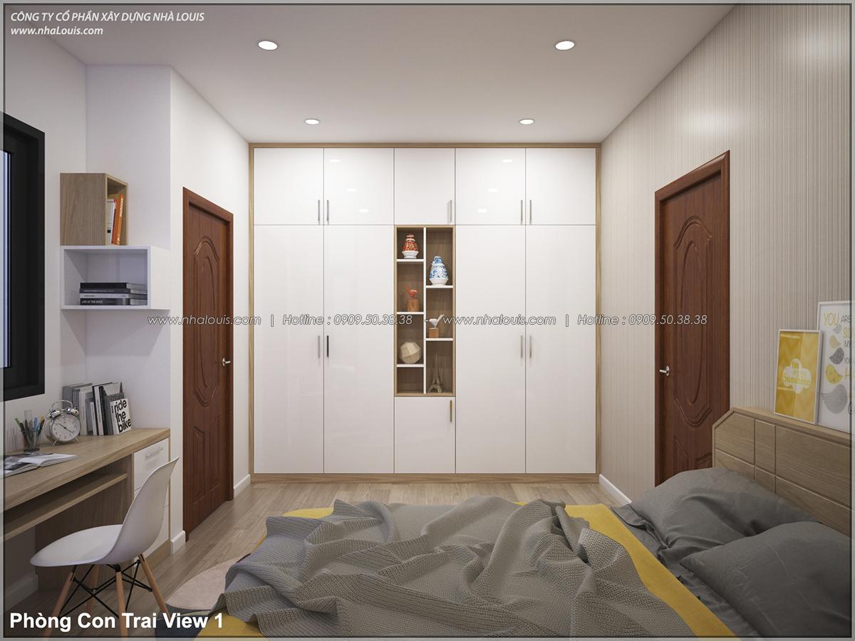 Thiết kế nhà lệch tầng hiện đại mặt tiền 4.5m x 14.5m tại quận Tân Bình - 20
