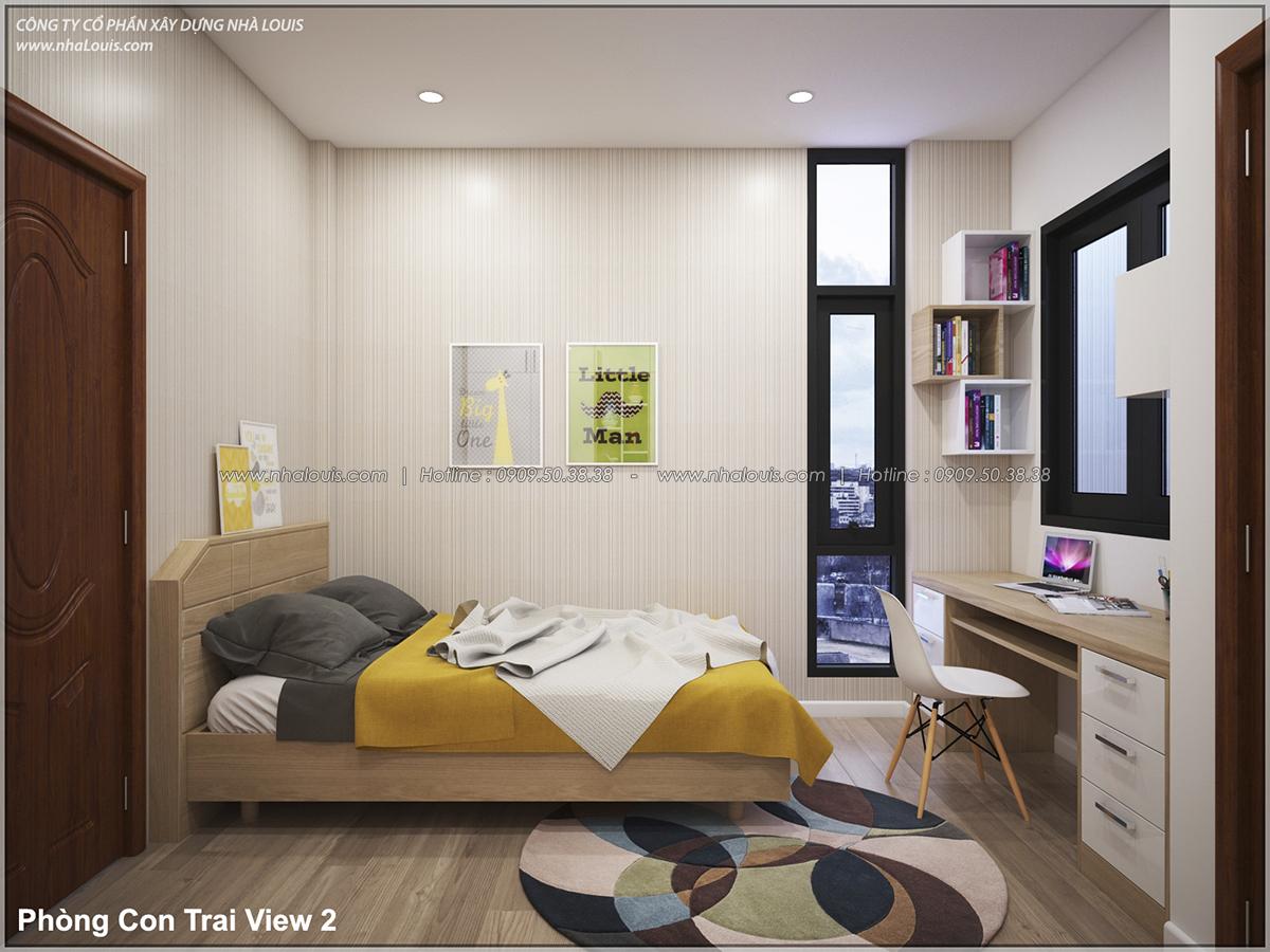 Thiết kế nhà lệch tầng hiện đại mặt tiền 4.5m x 14.5m tại quận Tân Bình - 21
