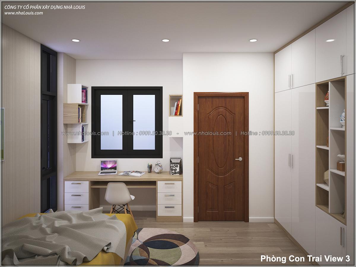 Thiết kế nhà lệch tầng hiện đại mặt tiền 4.5m x 14.5m tại quận Tân Bình - 22