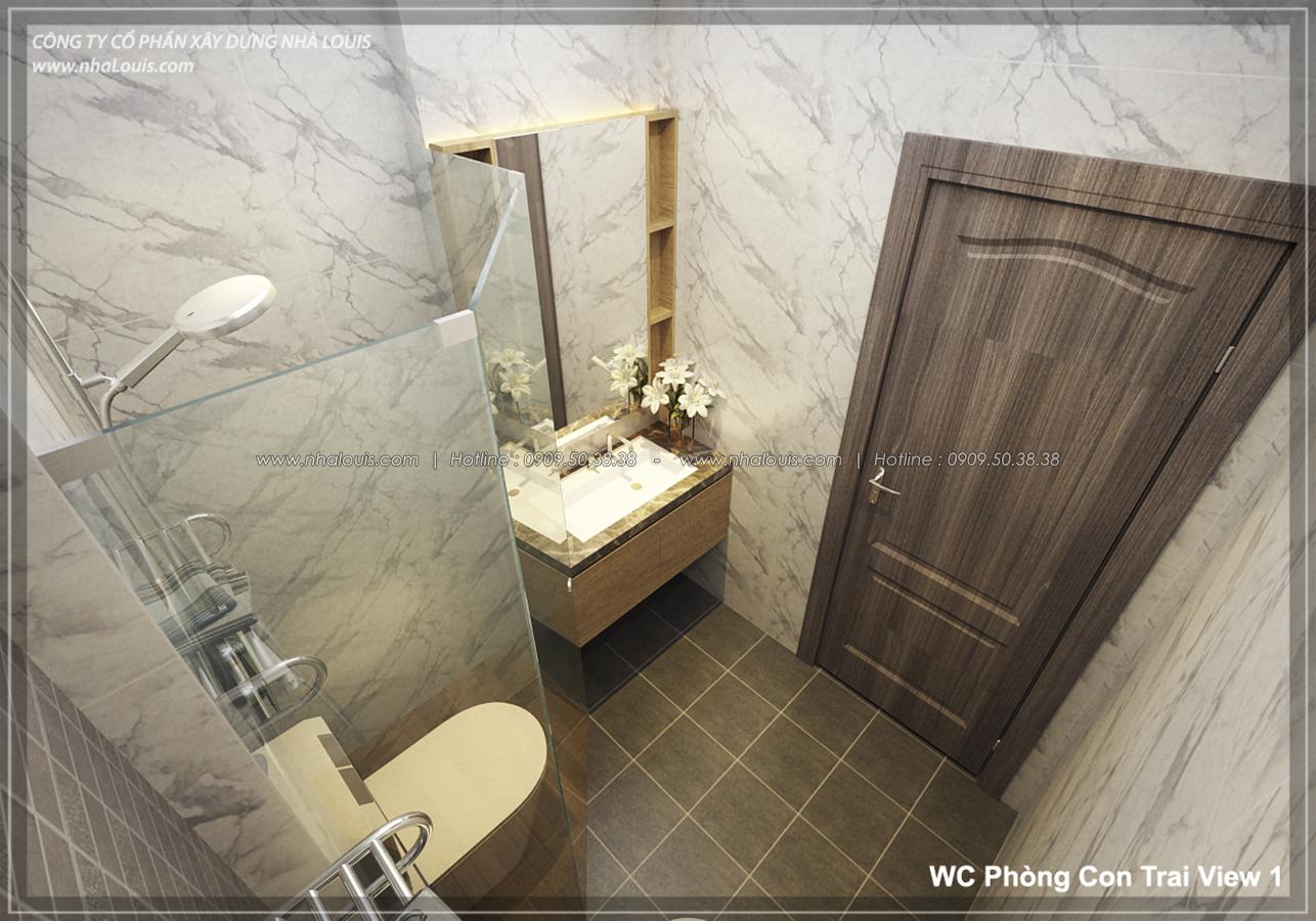 Thiết kế nhà lệch tầng hiện đại mặt tiền 4.5m x 14.5m tại quận Tân Bình - 24