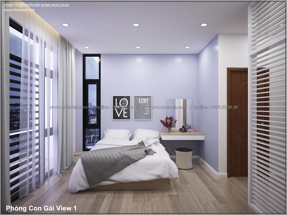 Thiết kế nhà lệch tầng hiện đại mặt tiền 4.5m x 14.5m tại quận Tân Bình - 26