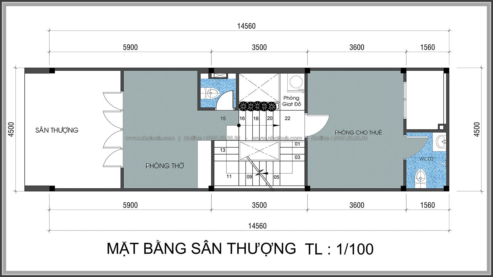 Thiết kế nhà lệch tầng hiện đại mặt tiền 4.5m x 14.5m tại quận Tân Bình - 29