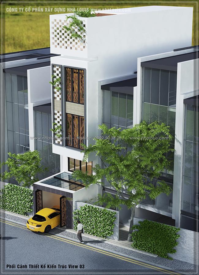 Thiết kế nhà phố hiện đại 4m x 13m tại Quận 7 với mảng xanh tươi mát