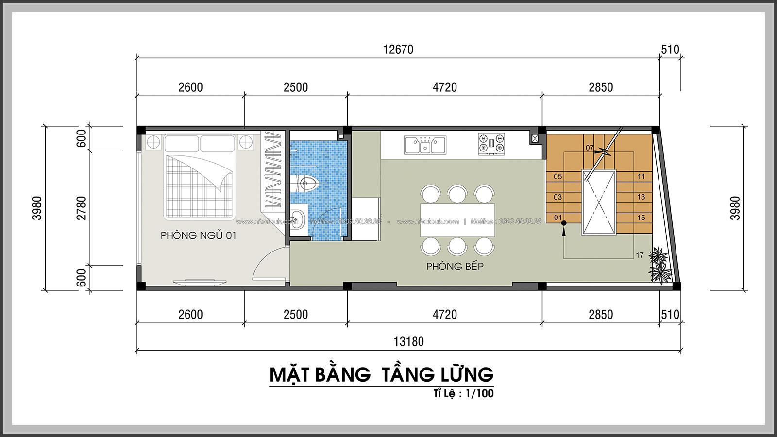 Thiết kế nhà phố hiện đại 4m x 13m tại Quận 7 với mảng xanh tươi mát - 17