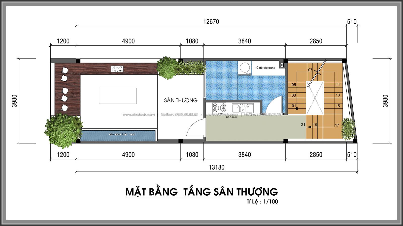 Thiết kế nhà phố hiện đại 4m x 13m tại Quận 7 với mảng xanh tươi mát - 45