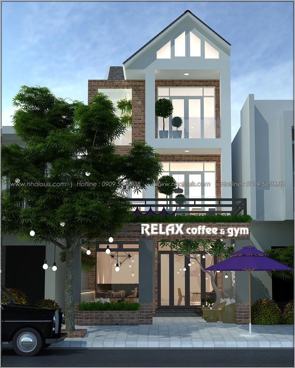 Kiến trúc nhà đẹp 3 tầng tại Bình Chánh kết hợp kinh doanh coffee & gym - 01