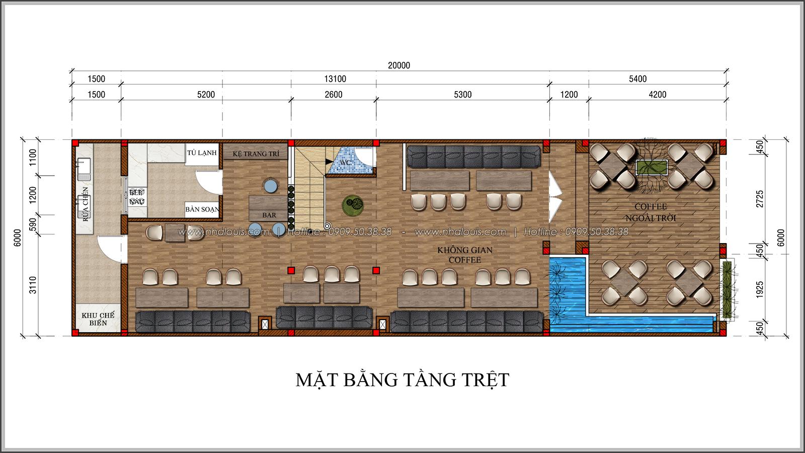 Kiến trúc nhà đẹp 3 tầng tại Bình Chánh kết hợp kinh doanh coffee & gym - 02