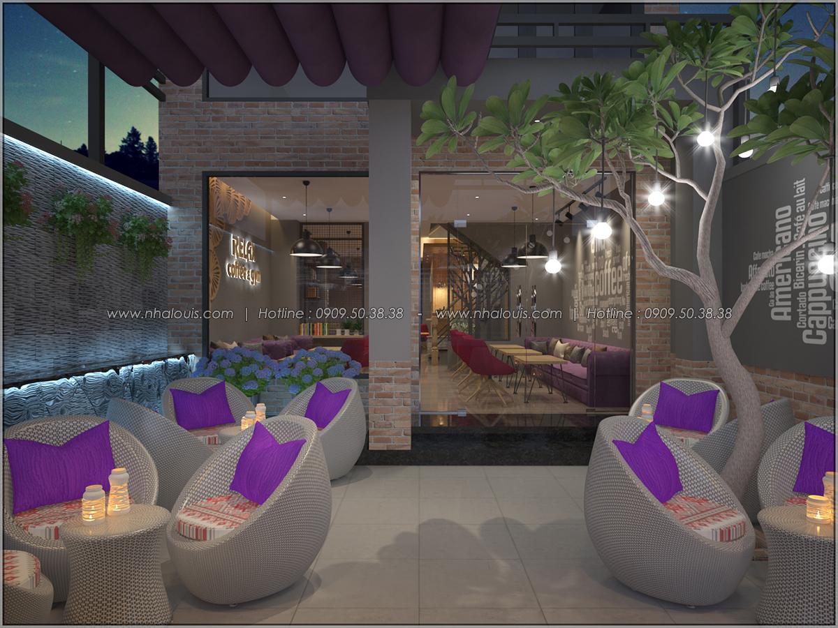 Kiến trúc nhà đẹp 3 tầng tại Bình Chánh kết hợp kinh doanh coffee & gym - 03