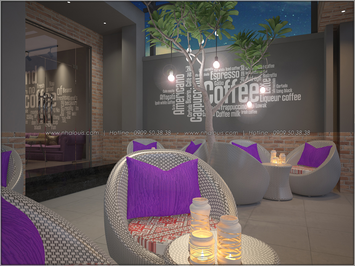 Kiến trúc nhà đẹp 3 tầng tại Bình Chánh kết hợp kinh doanh coffee & gym - 05