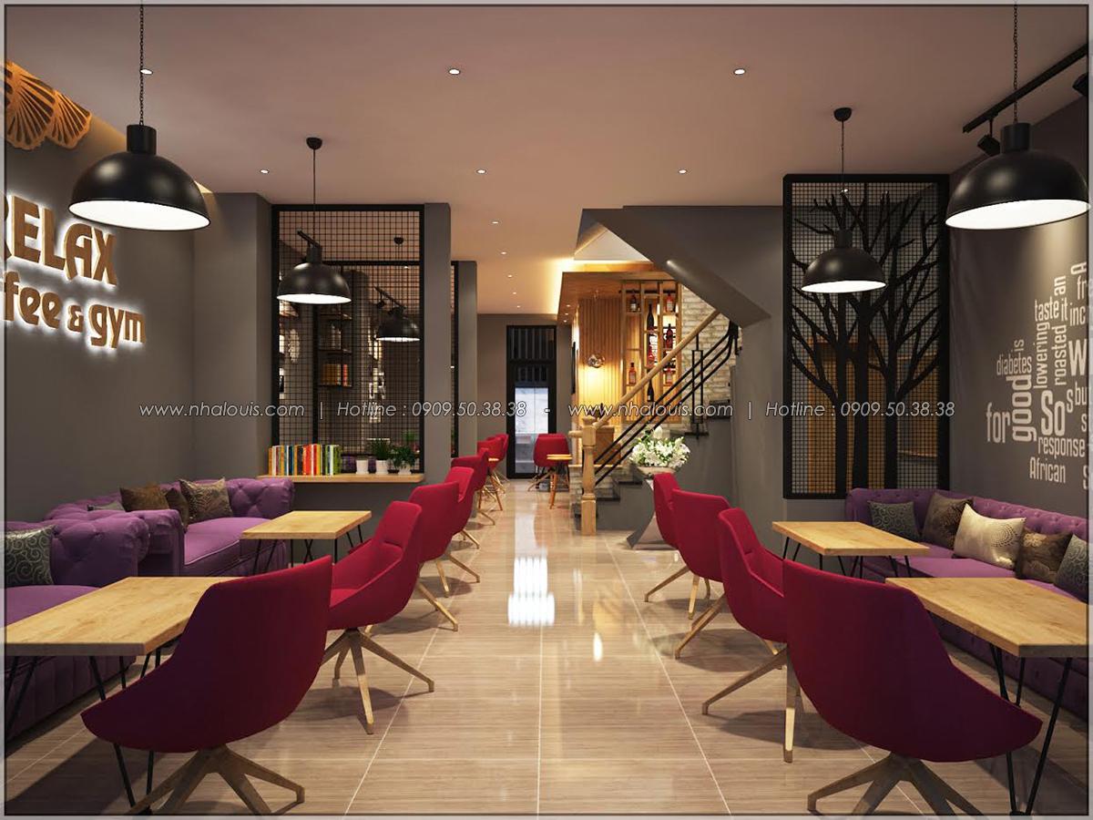 Kiến trúc nhà đẹp 3 tầng tại Bình Chánh kết hợp kinh doanh coffee & gym - 06