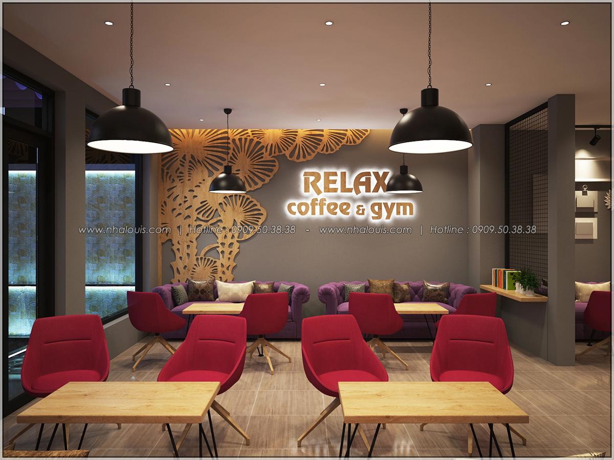 Kiến trúc nhà đẹp 3 tầng tại Bình Chánh kết hợp kinh doanh coffee & gym - 07