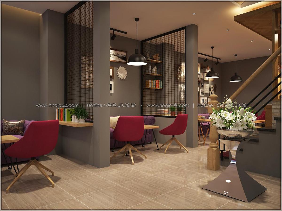 Kiến trúc nhà đẹp 3 tầng tại Bình Chánh kết hợp kinh doanh coffee & gym - 09