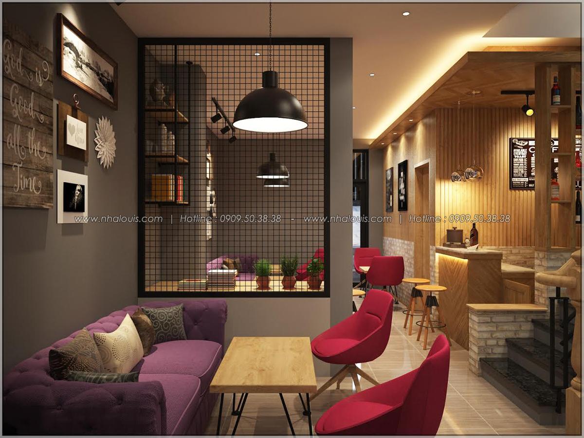 Kiến trúc nhà đẹp 3 tầng tại Bình Chánh kết hợp kinh doanh coffee & gym - 10