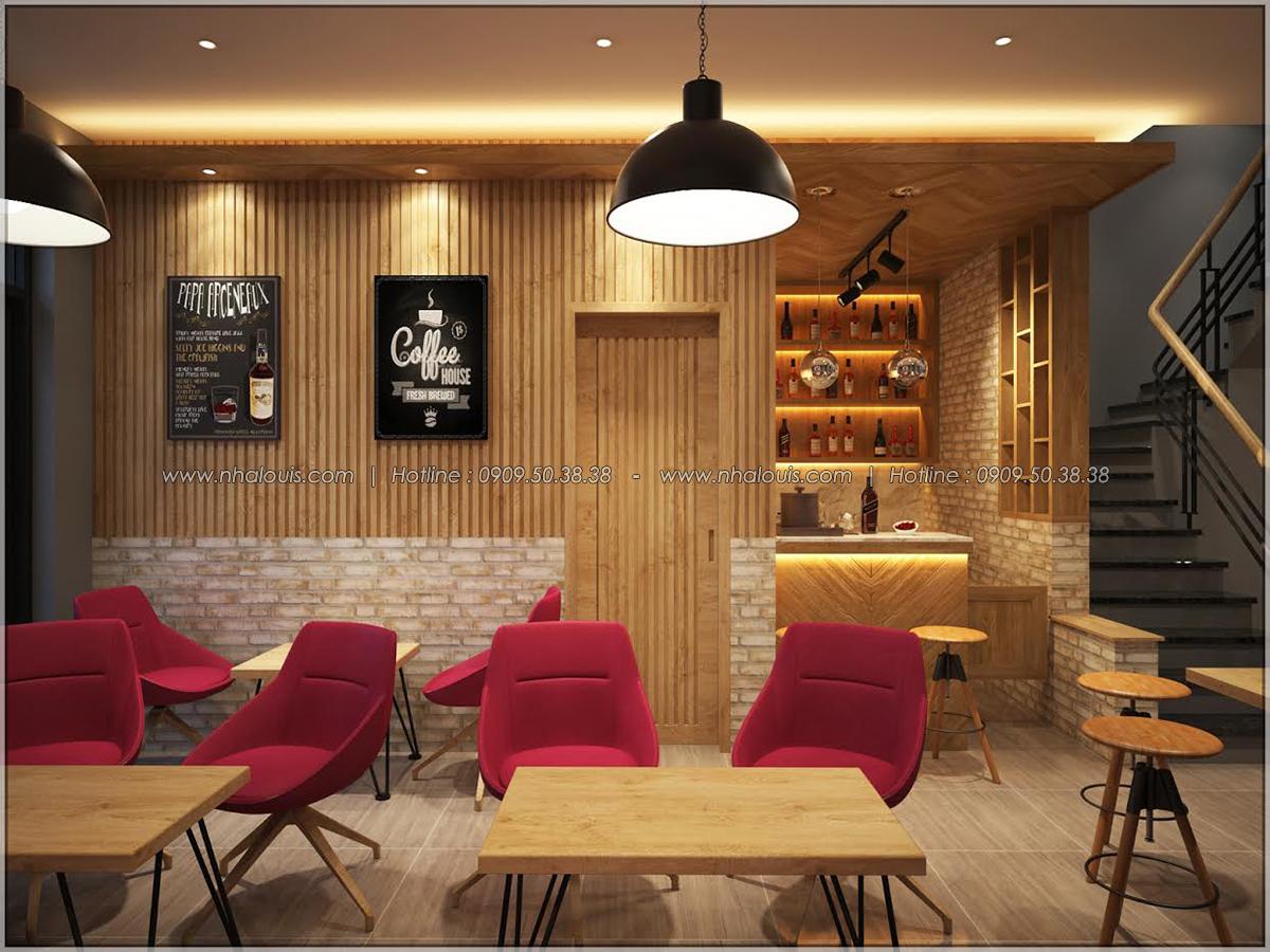 Kiến trúc nhà đẹp 3 tầng tại Bình Chánh kết hợp kinh doanh coffee & gym - 11