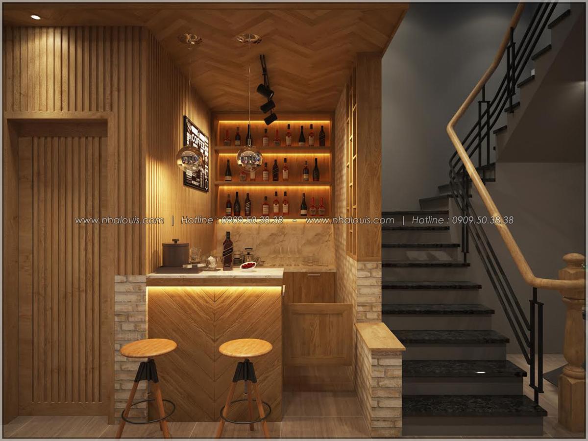 Kiến trúc nhà đẹp 3 tầng tại Bình Chánh kết hợp kinh doanh coffee & gym - 12