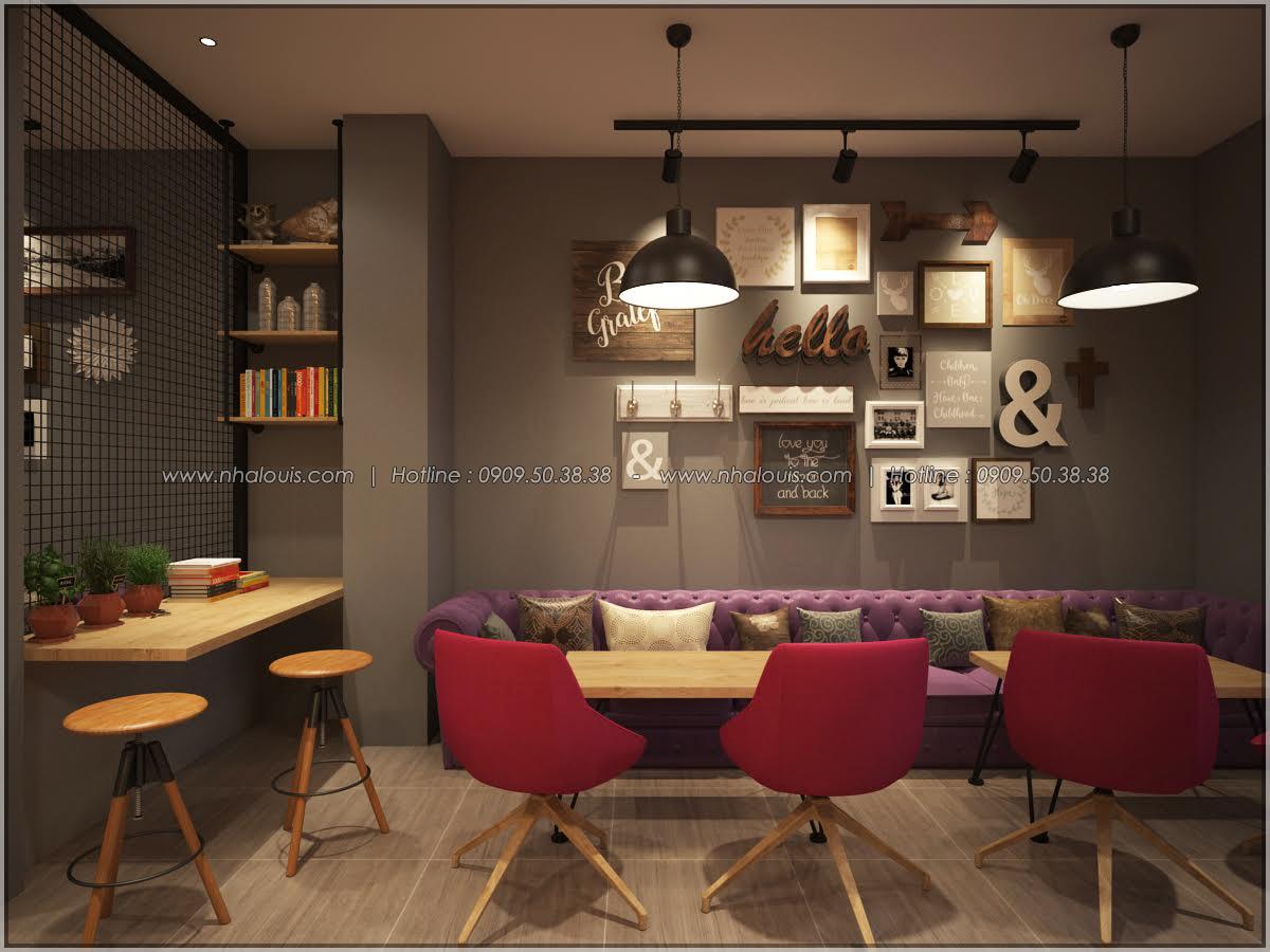 Kiến trúc nhà đẹp 3 tầng tại Bình Chánh kết hợp kinh doanh coffee & gym - 13