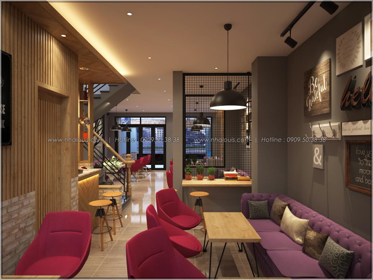 Kiến trúc nhà đẹp 3 tầng tại Bình Chánh kết hợp kinh doanh coffee & gym - 14