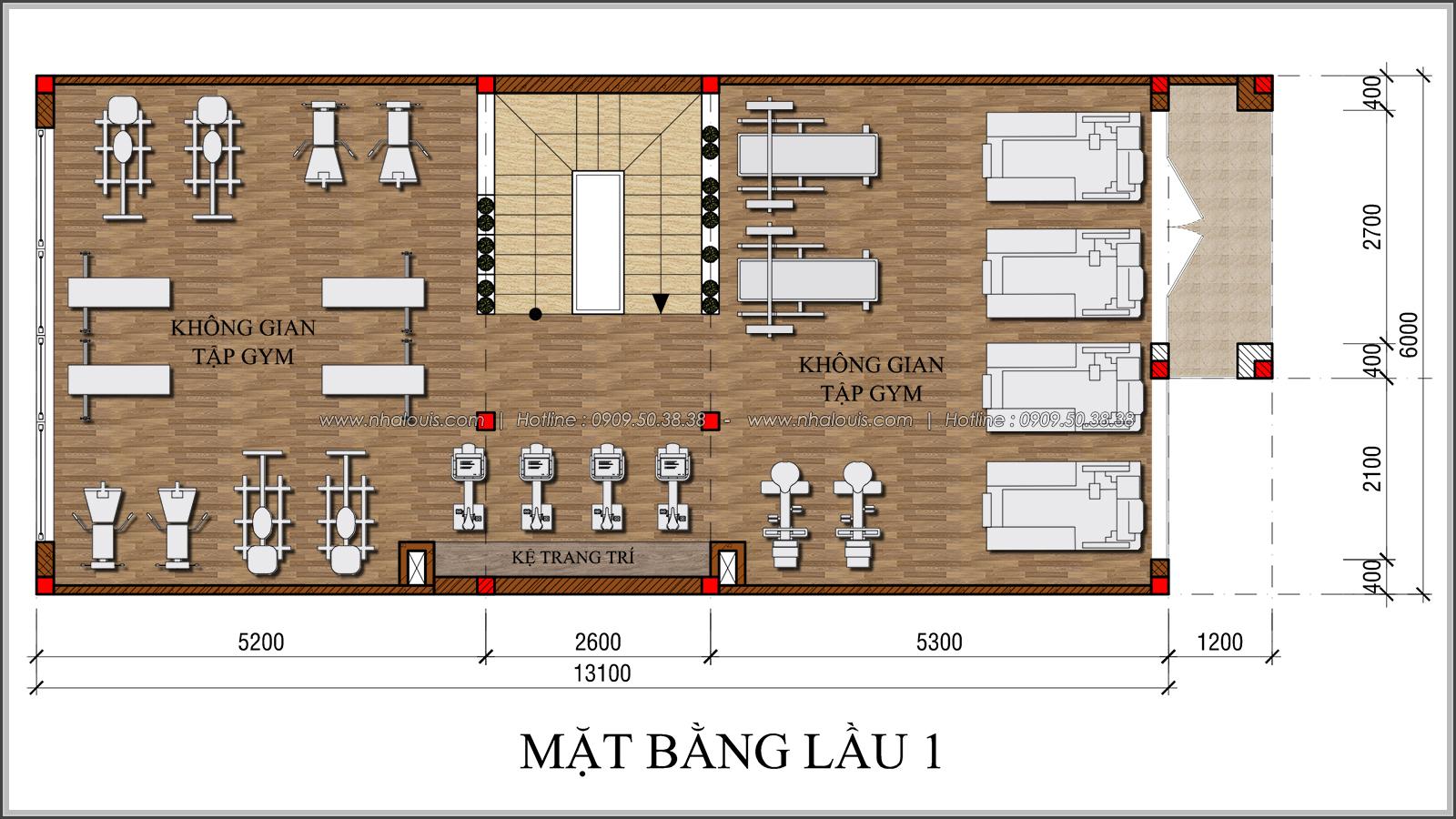 Kiến trúc nhà đẹp 3 tầng tại Bình Chánh kết hợp kinh doanh coffee & gym - 17