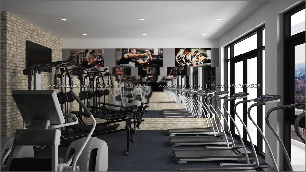 Kiến trúc nhà đẹp 3 tầng tại Bình Chánh kết hợp kinh doanh coffee & gym - 18