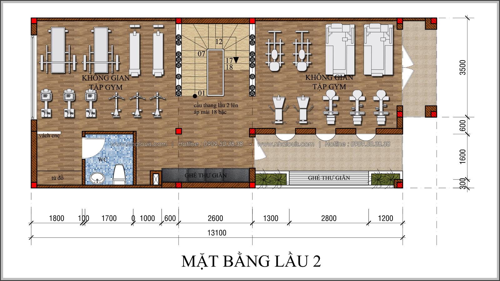 Kiến trúc nhà đẹp 3 tầng tại Bình Chánh kết hợp kinh doanh coffee & gym - 22