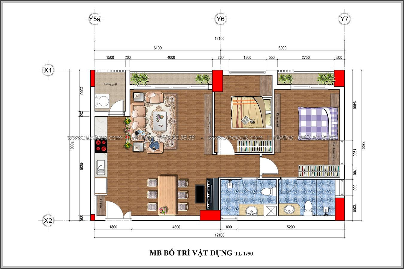 Mê mẩn thiết kế căn hộ 2 phòng ngủ Green Valley Quận 7 cực sang trọng - 20
