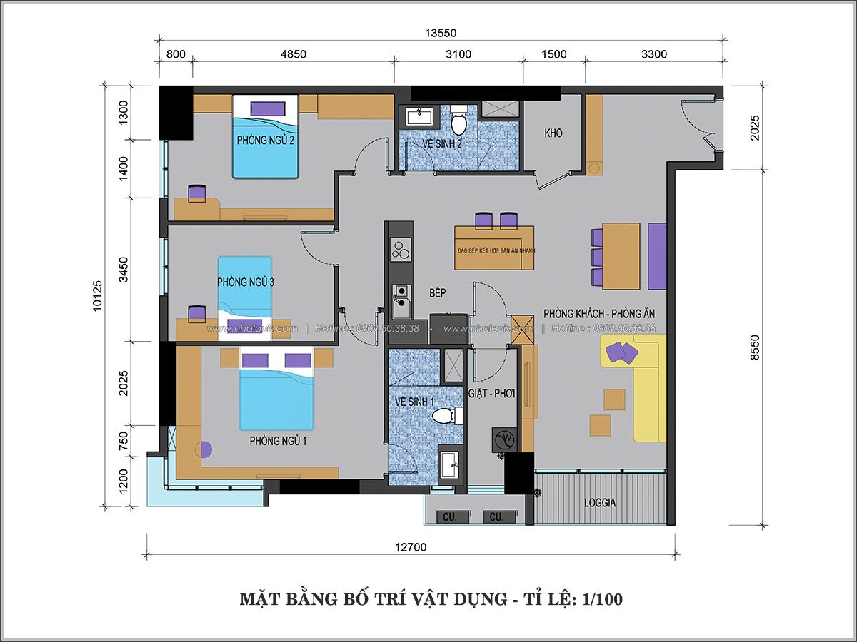 Thiết kế căn hộ Sunrise City 3 phòng ngủ ở Quận 7 với nội thất ấn tượng - 01