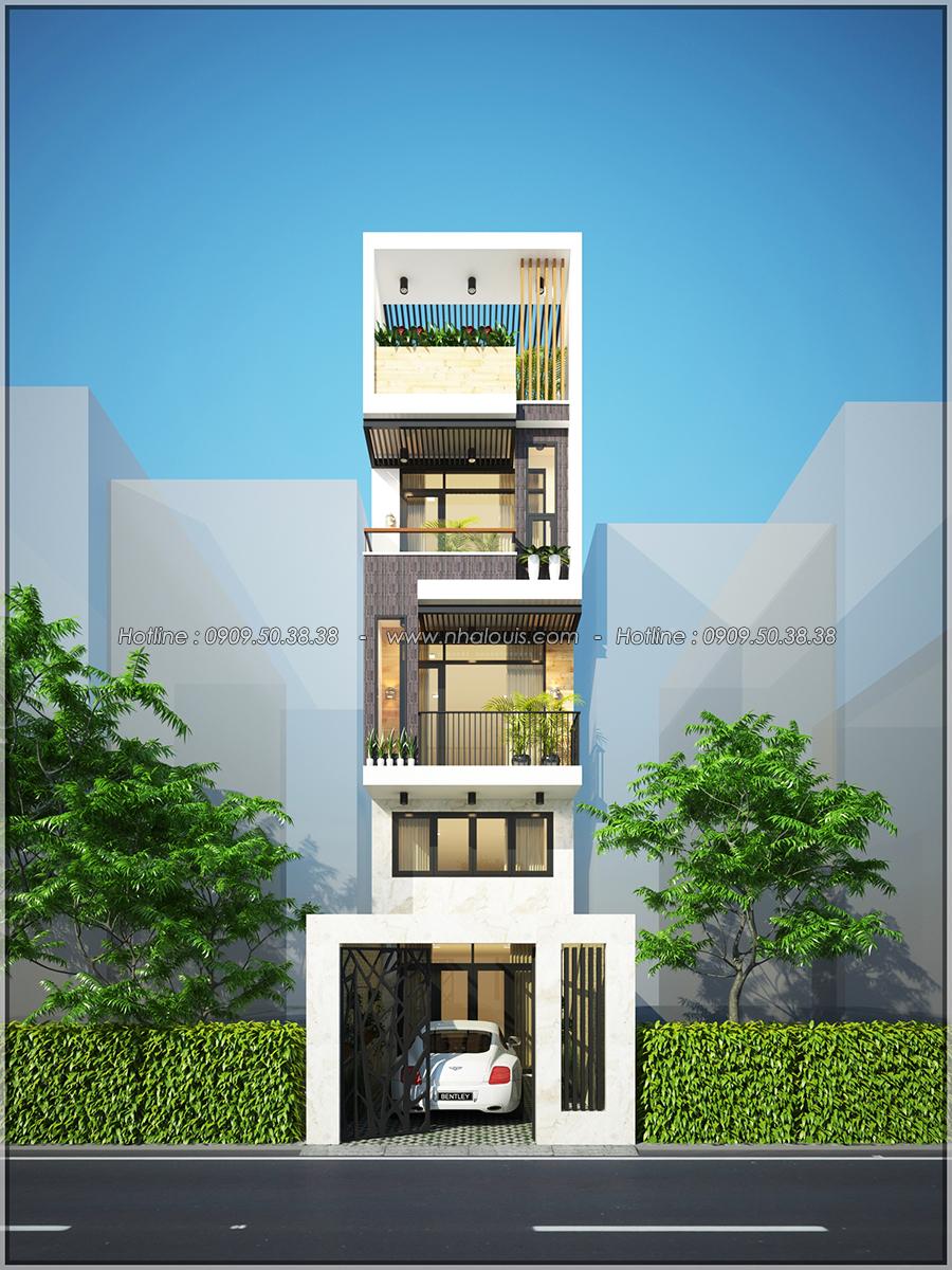 Thiết kế nhà đẹp 3 tầng chuẩn sang trọng tại Thủ Đức - 01