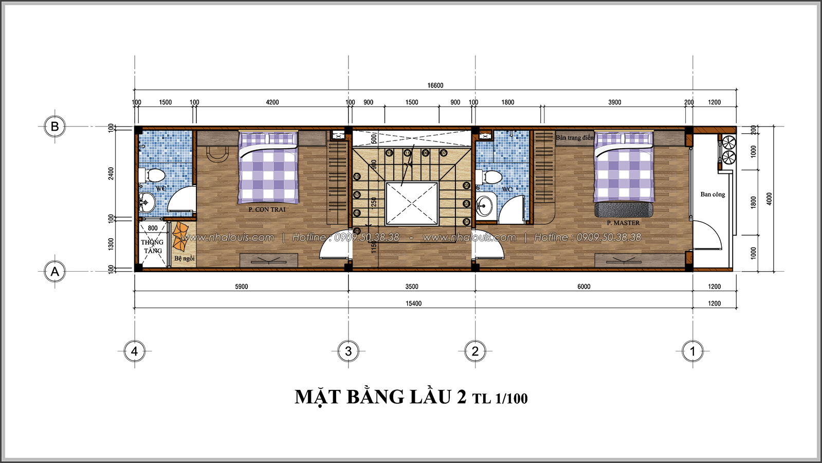 Thiết kế nhà đẹp 3 tầng chuẩn sang trọng tại Thủ Đức - 06