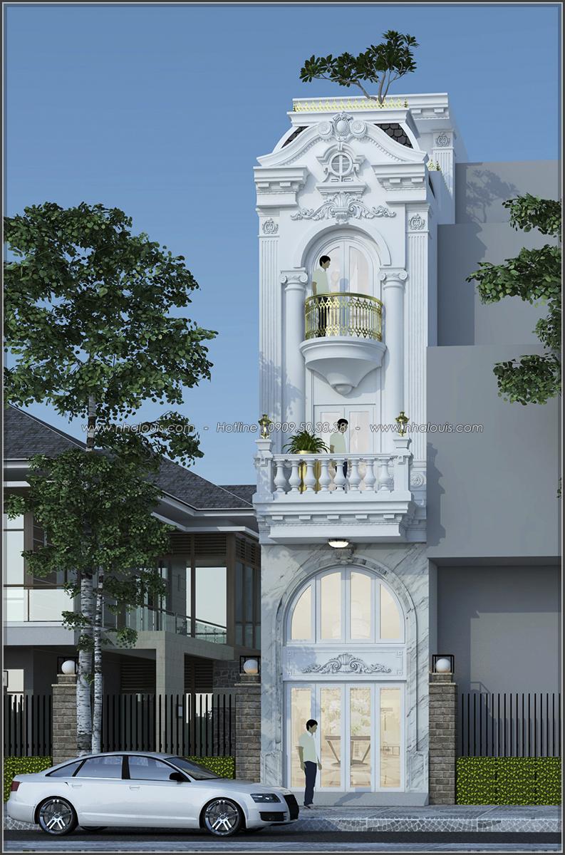 Thiết kế nhà ống 3 tầng đẹp tại Quận 3 phong cách cổ điển nhỏ mà chất - 01