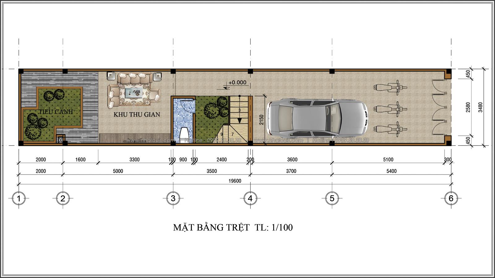 Thiết kế nhà ống 3 tầng đẹp tại Quận 3 phong cách cổ điển nhỏ mà chất - 03