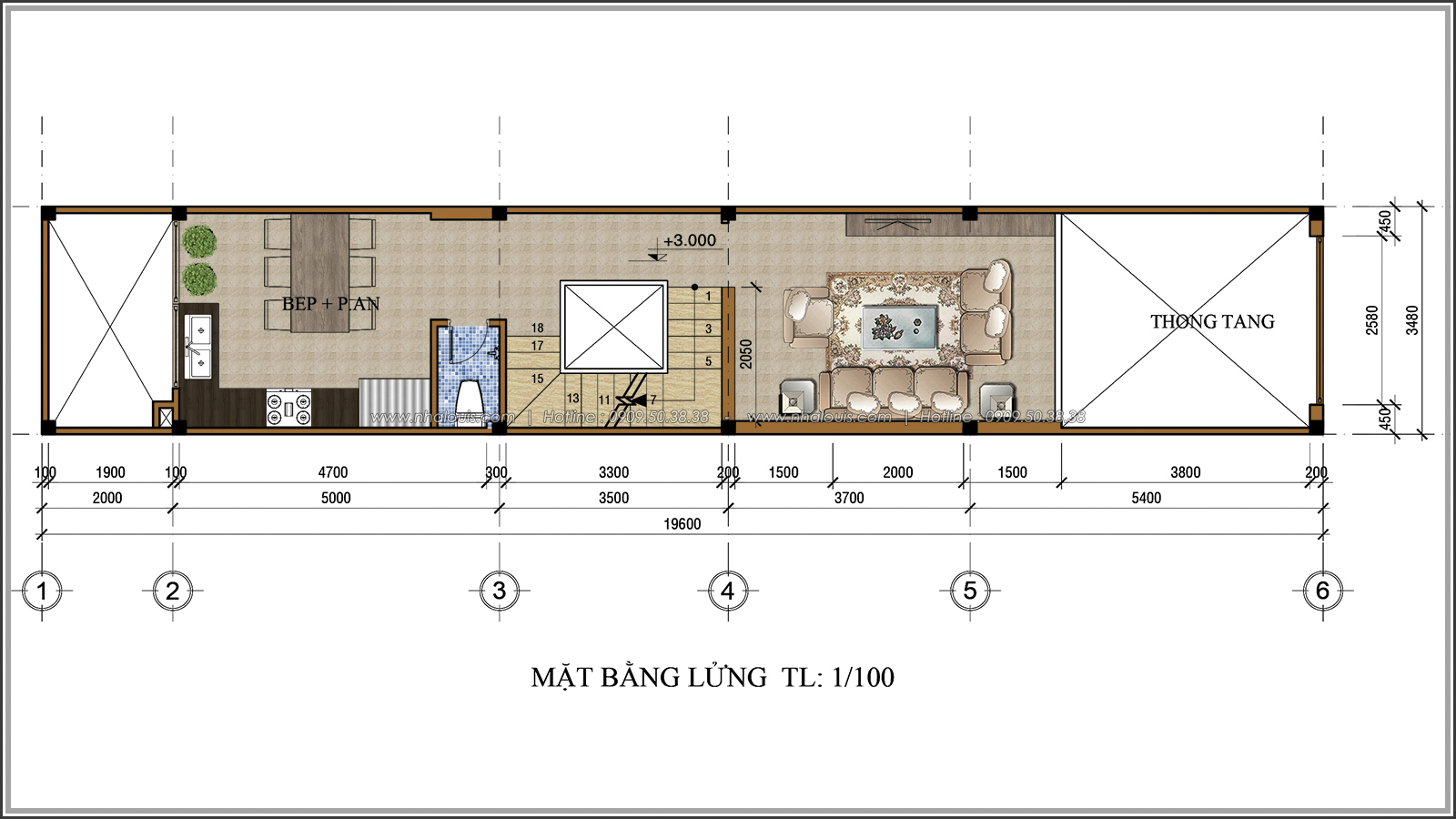 Thiết kế nhà ống 3 tầng đẹp tại Quận 3 phong cách cổ điển nhỏ mà chất - 04