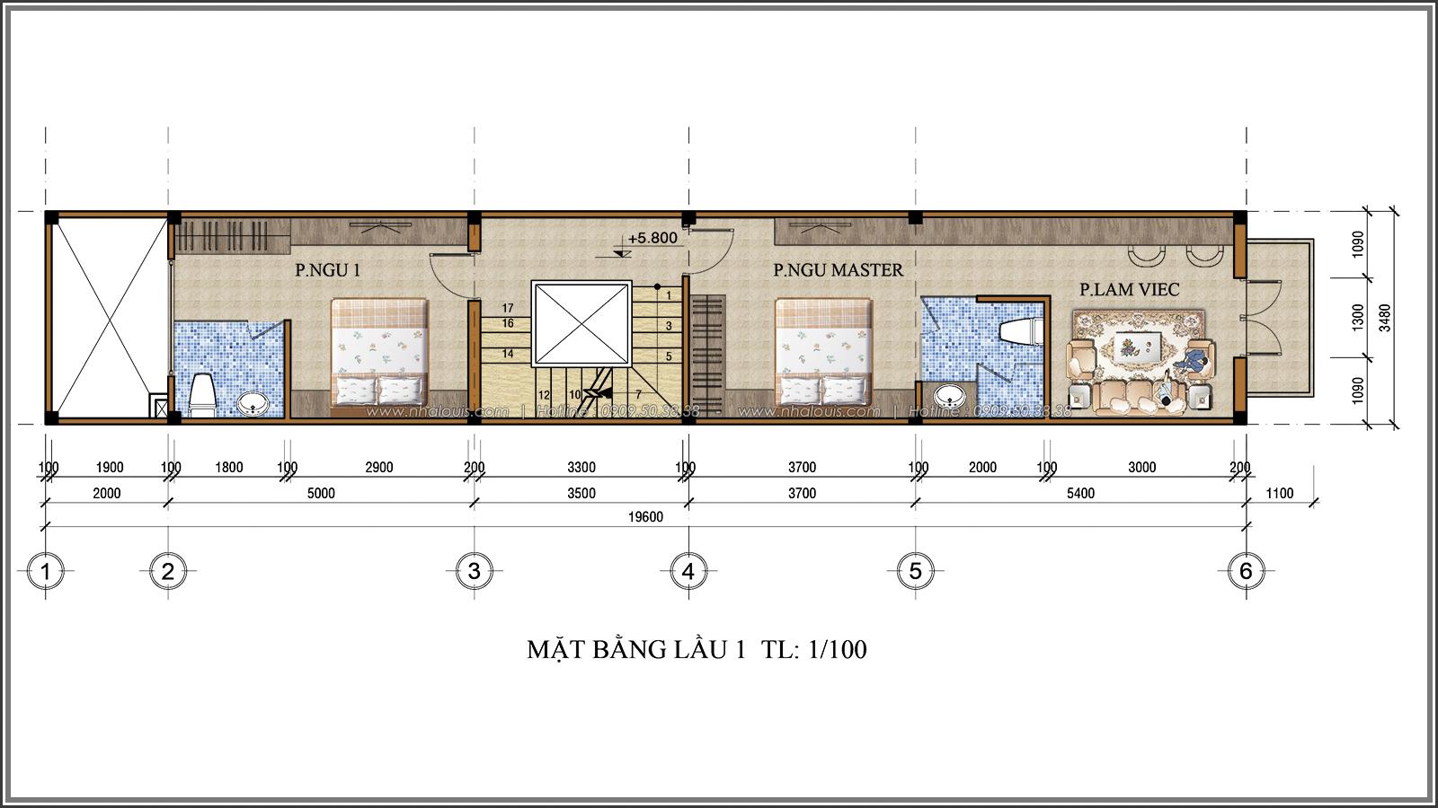 Thiết kế nhà ống 3 tầng đẹp tại Quận 3 phong cách cổ điển nhỏ mà chất - 05