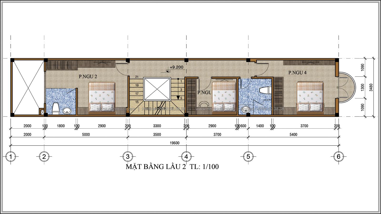 Thiết kế nhà ống 3 tầng đẹp tại Quận 3 phong cách cổ điển nhỏ mà chất - 06