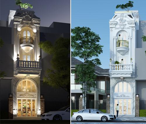 Thiết kế nhà ống 3 tầng đẹp tại Quận 3 phong cách cổ điển nhỏ mà chất